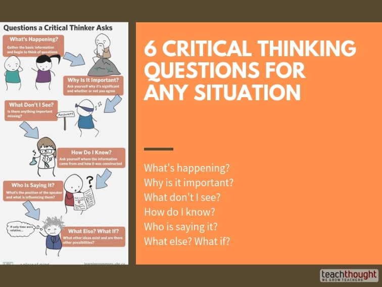 6 Critical Thinking Questions For Any Situation