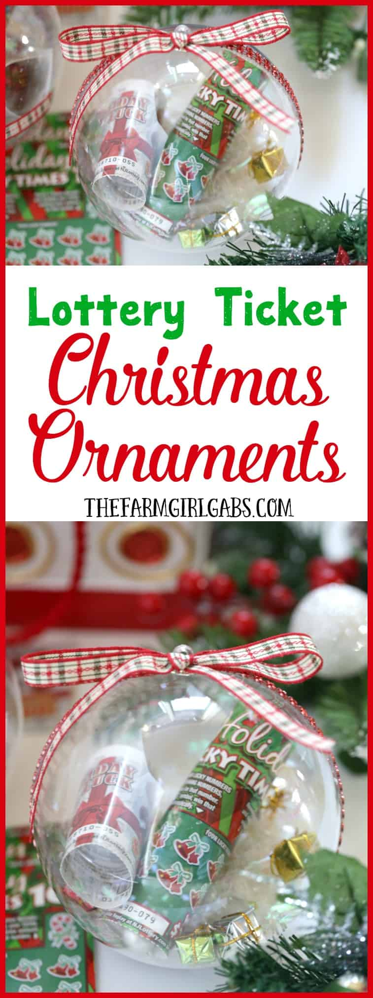Gift the gift of lottery luck this holiday season with these fun New Jersey Lottery Ticket Christmas Ornaments.