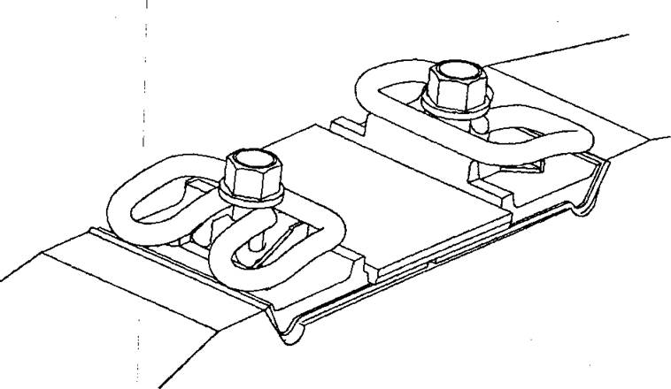 Клемма в монтажном положении в скреплении ЖБР-65ПШМ