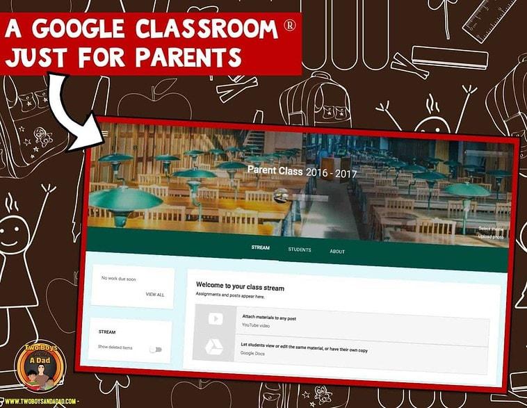 A Google Classroom just for parents