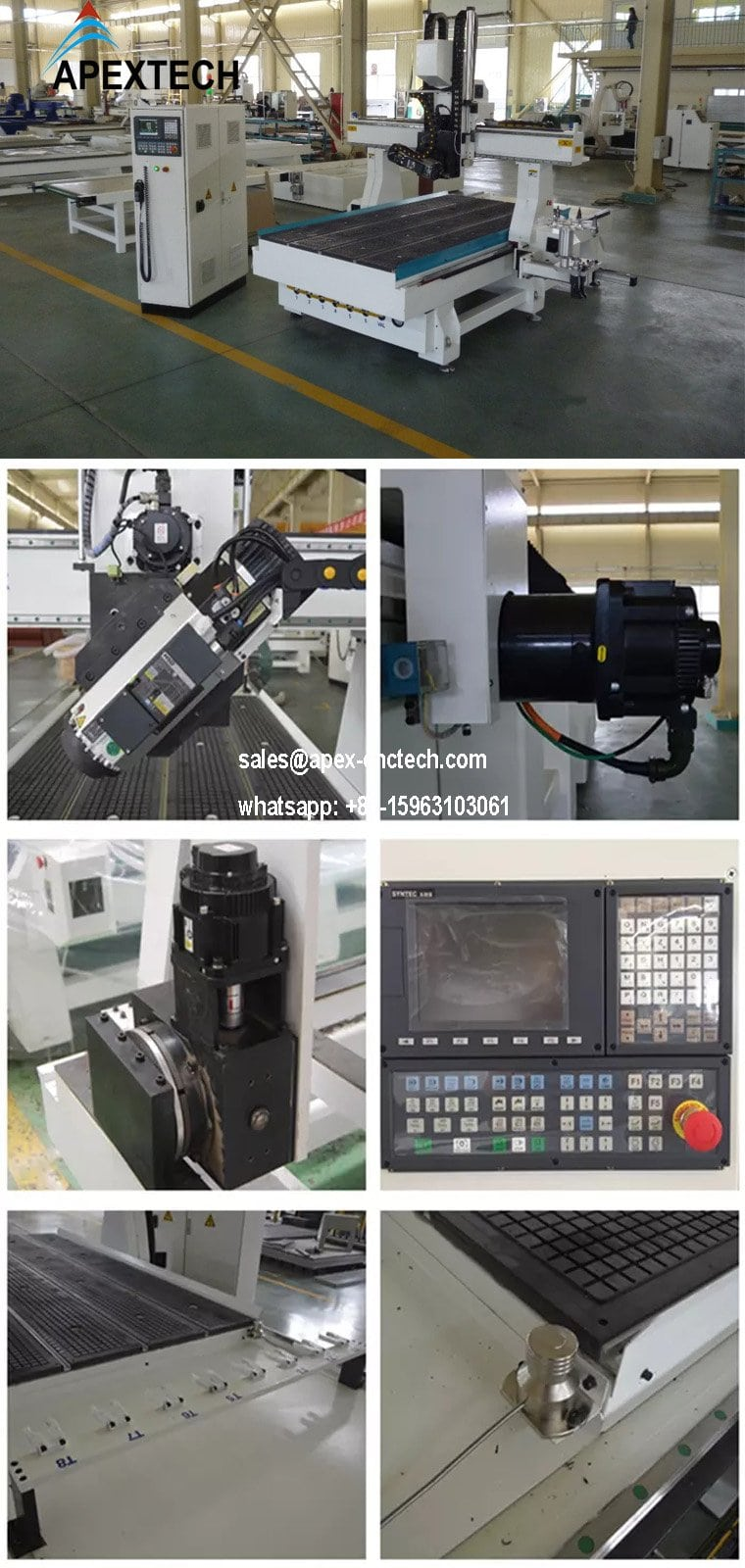 CNC Router Machine 4 Axis Spindle Rotating 180 Degree China Cnc Machine