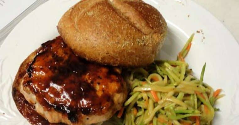 Bobby Flay's Salmon Burgers with Hoisin Barbecue Sauce