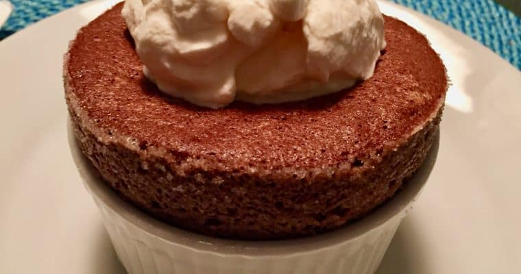 Valentine's Day Advice: Make Dessert First.  This Chocolate Soufflé will fit the bill.