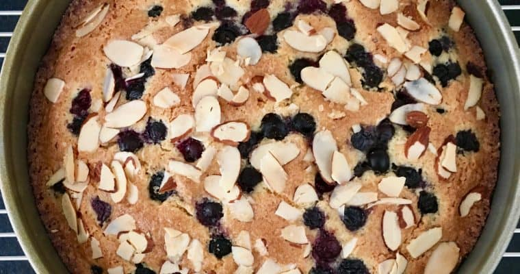Yotam Ottolenghi's Coconut, Almond and Blueberry Cake