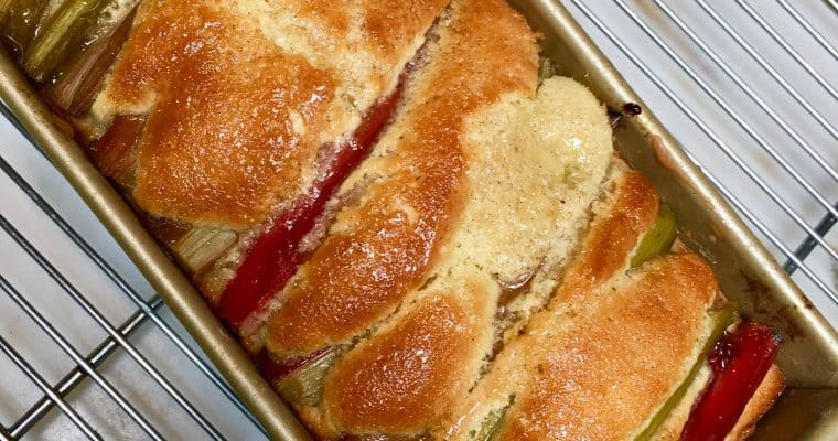Rhubarb Pound Cake from Melissa Clark in The New York Times