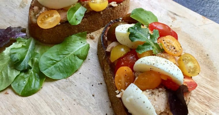 A perfect warm weather dish: Niçoise Toasts from Molly Baz in Bon Appetit