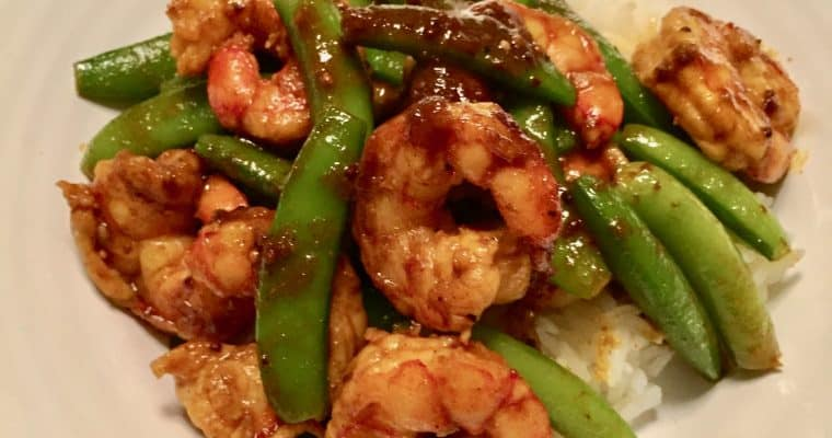 Curried Shrimp and Snap Peas with Vadouvan French Curry Blend
