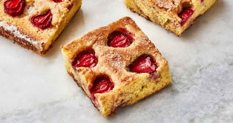 Strawberry Snacking Cake from Bon Appetit and Sarah Jampel