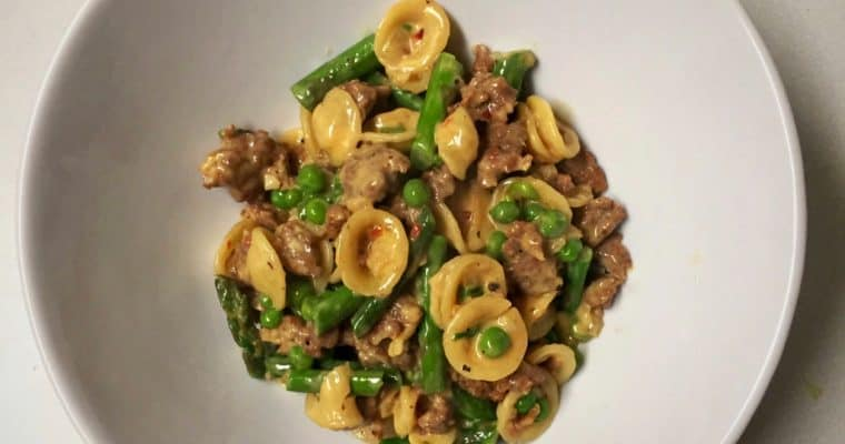 Orecchiette with Sausage and Green Vegetables