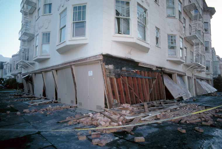 Structural damage from the Loma Prieta Earthquake