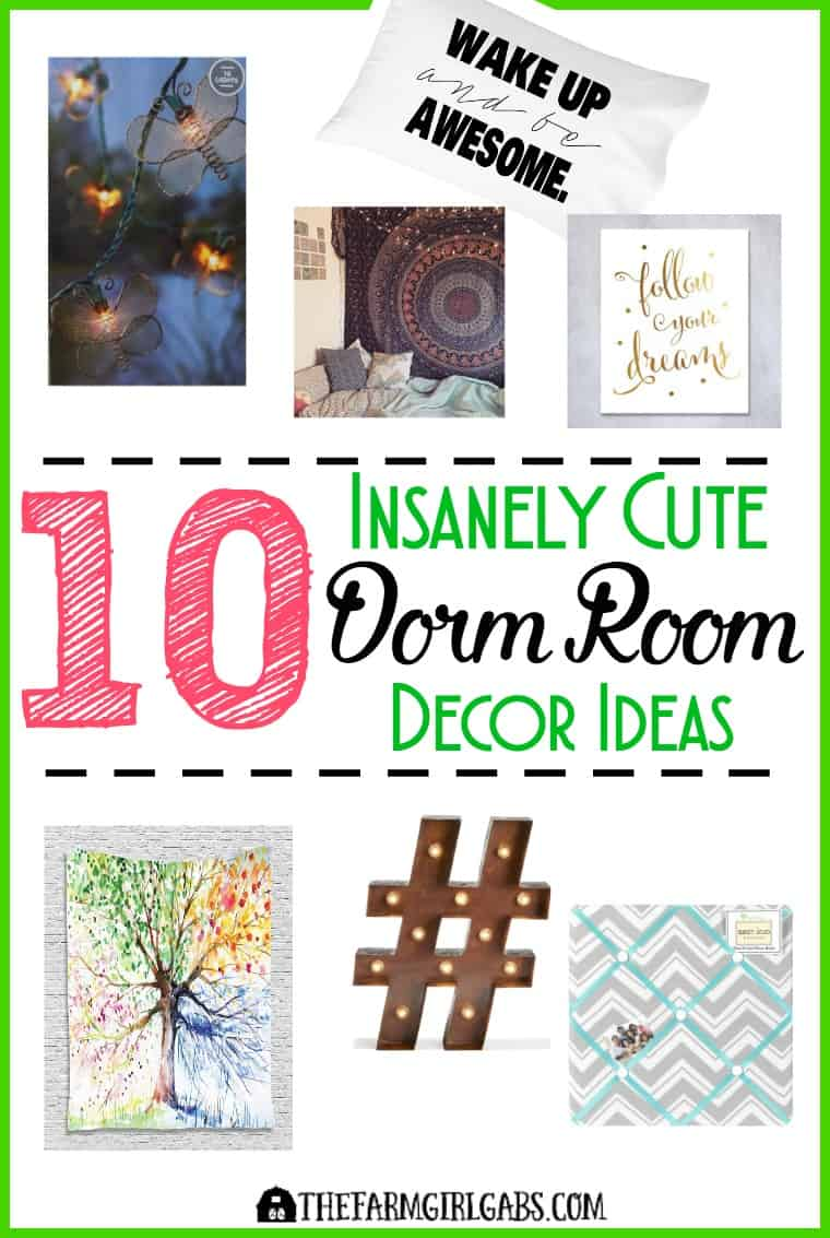 10 Insanely Cute Dorm Room Decor Ideas you college student will love!