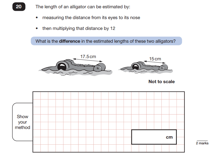 Paper 2 Question 20 Maths SATs 2018