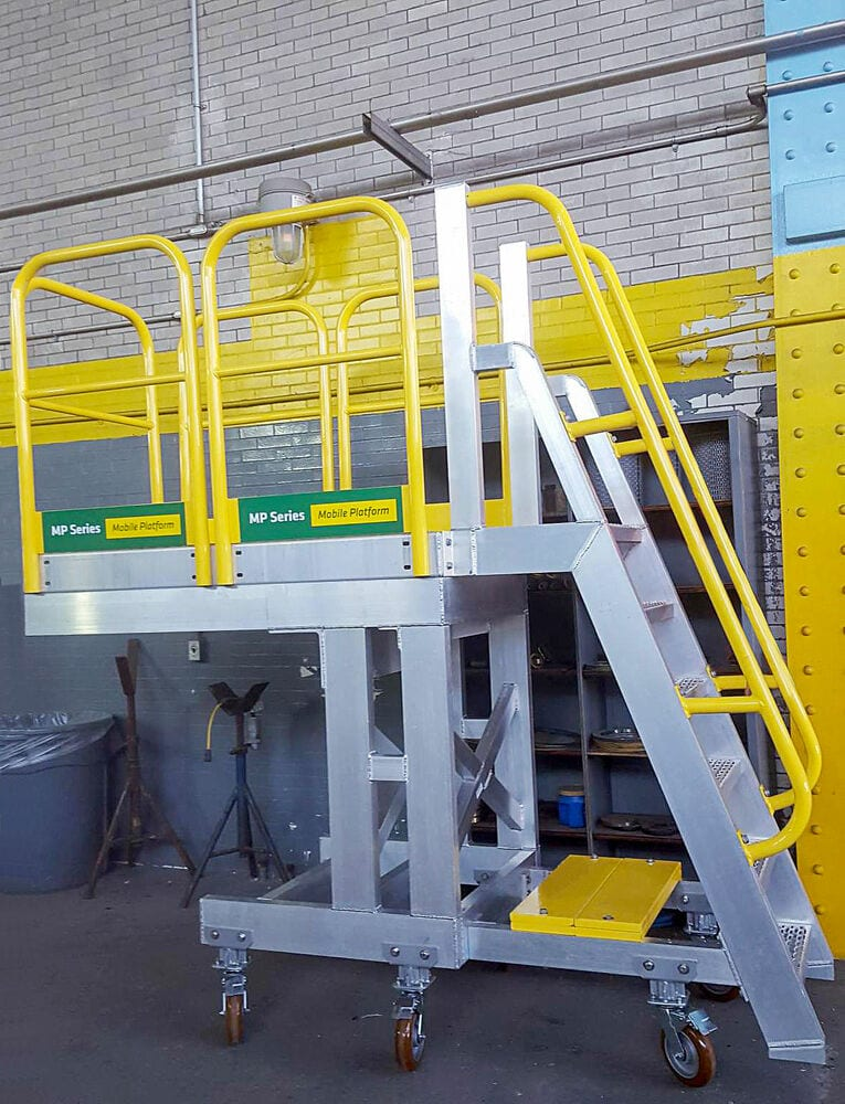 RollaStep work platform with stairs