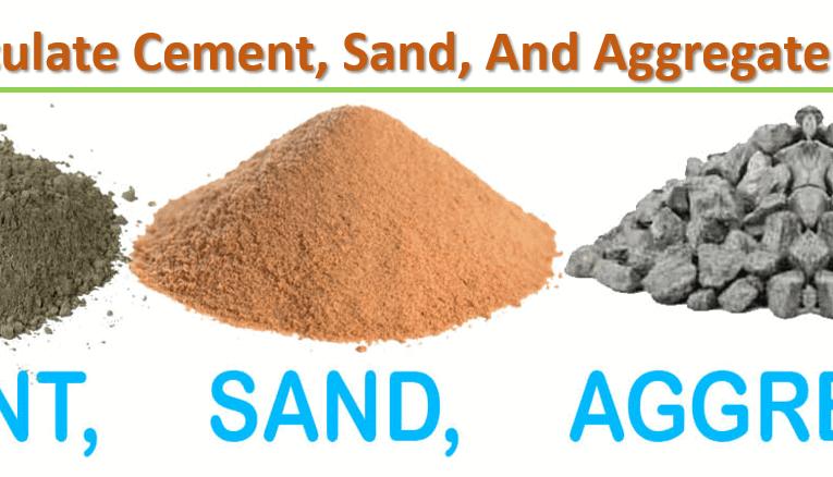 Cement, Sand & Aggregate Calculation in Concrete