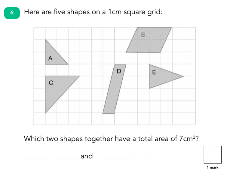 SATs Paper Reasoning Question: Geometry and Shapes
