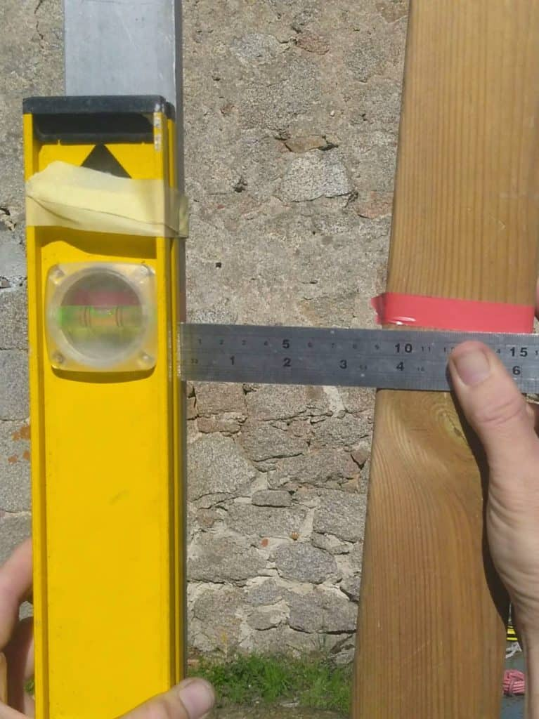 Measuring a 5 degree lean for Sun Shade post