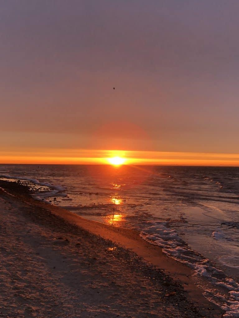 Sonnenaufgang an der Ostsee - Titel