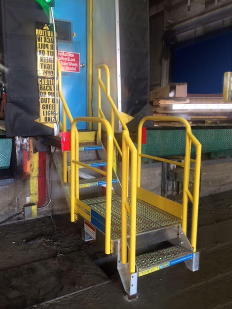 Metal Stairs at Loading Dock