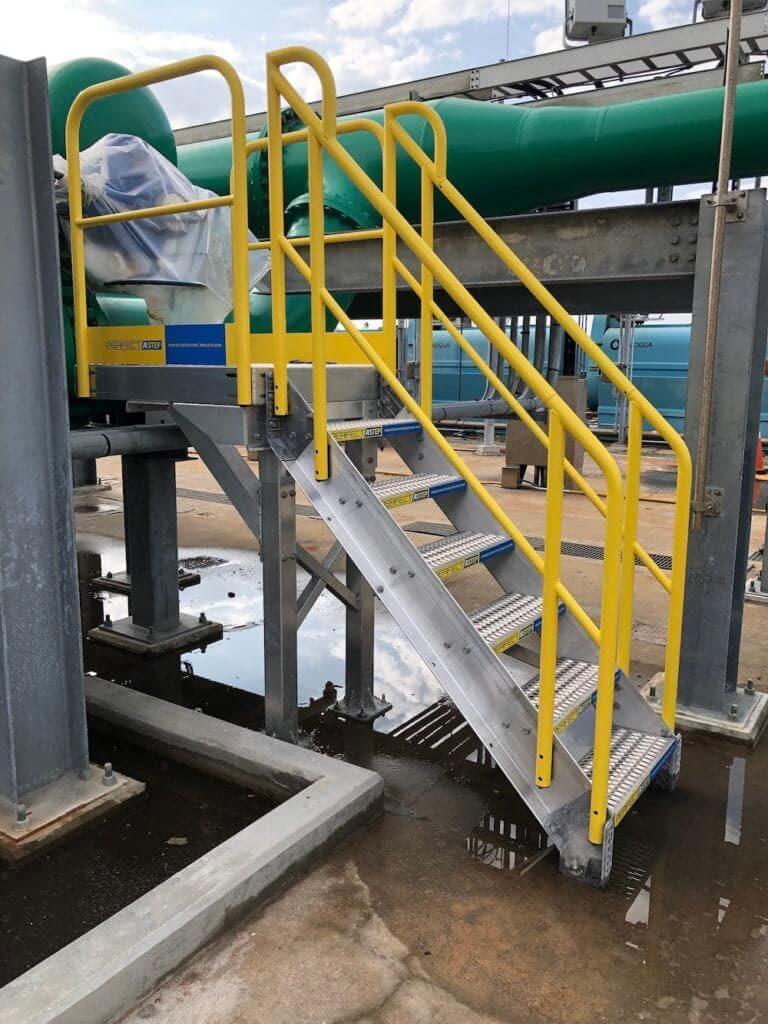 Metal Stair Work Platform