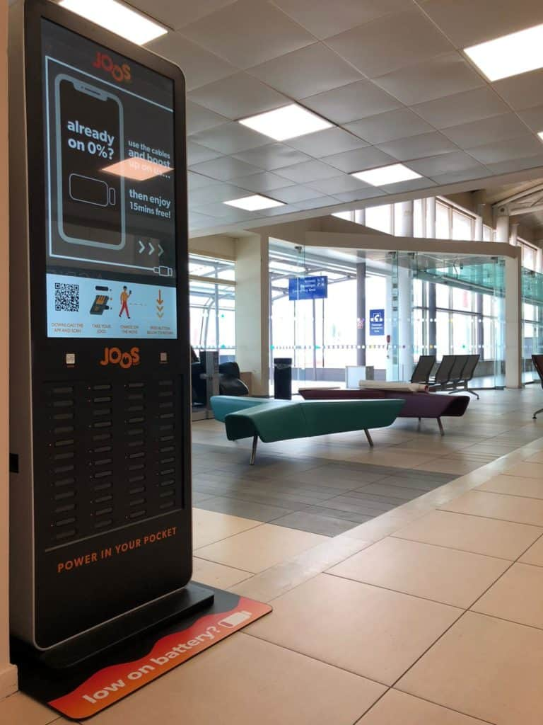 Liverpool John Lennon Airport becomes first major airport to launch the phone charging service Joos