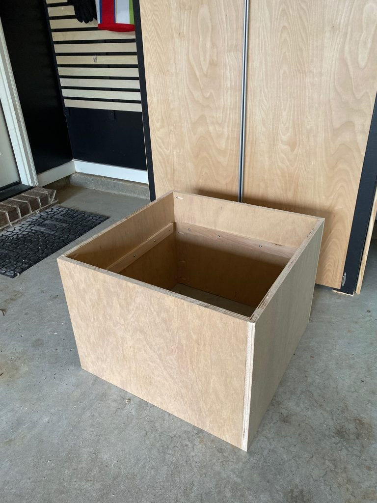 Christmas tree shipping crate stand midway