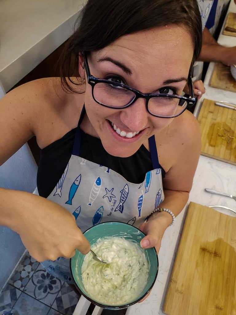 tzatziki- petra kouzina greek cooking class santorini