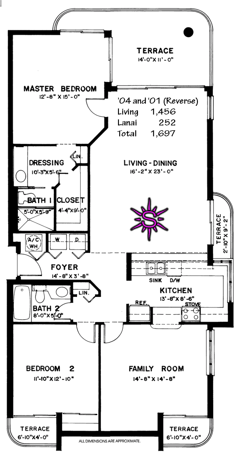Club Naples Cay Floor Plan '01 '04
