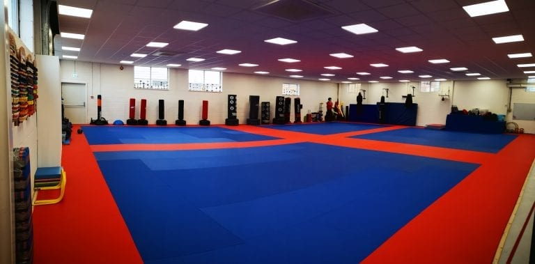 A selection of the bags and pads that we use for our Kickboxing, Karate and Kung Fu classes in Basingstoke