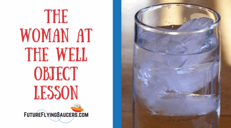 title of bible lesson The woman at the well and a glass of water