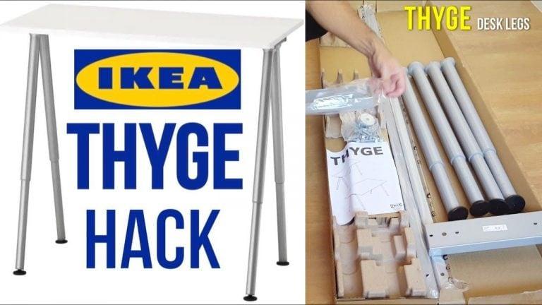 IKEA Desk Hack Assembly THYGE Desk