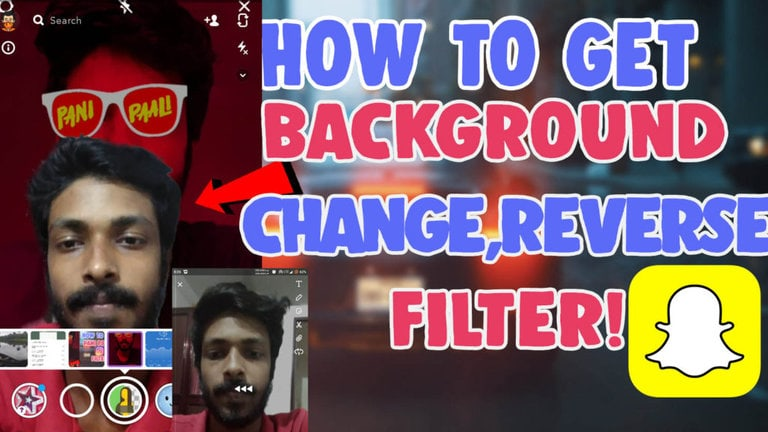 change the background reverse filter snapchat