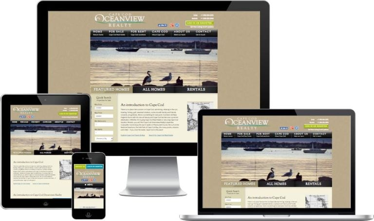 Cape Cod real estate website design