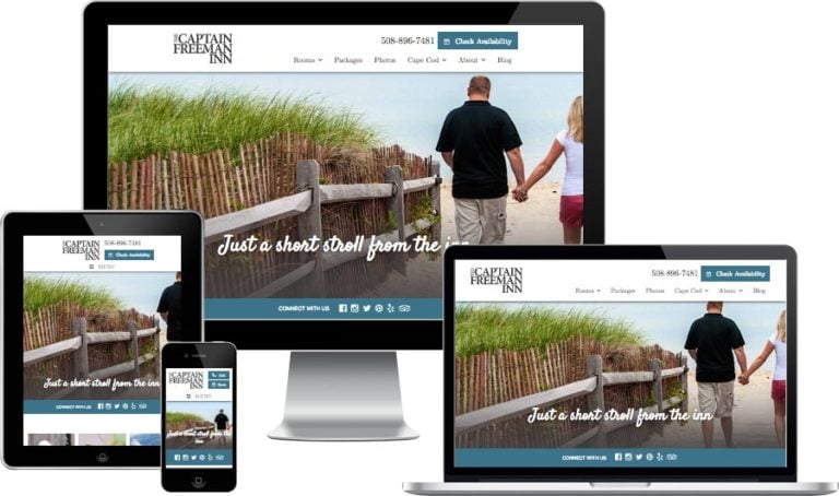 Cape Cod bed and breakfast website design