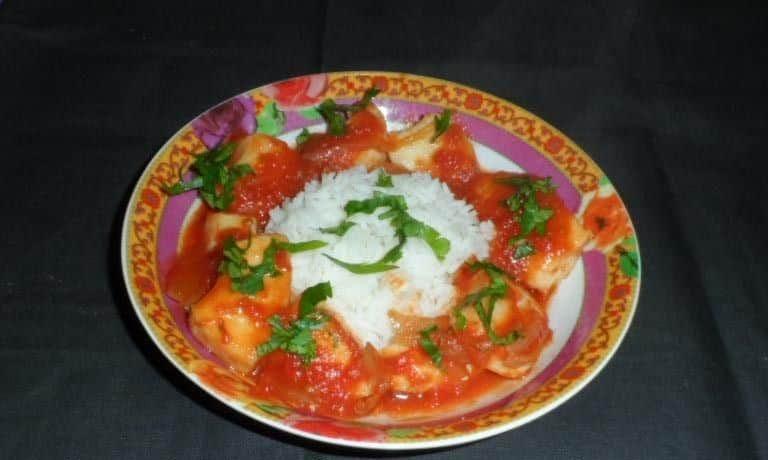 photo de calamars en sauce tomate