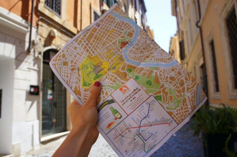 Mapa, de, roma