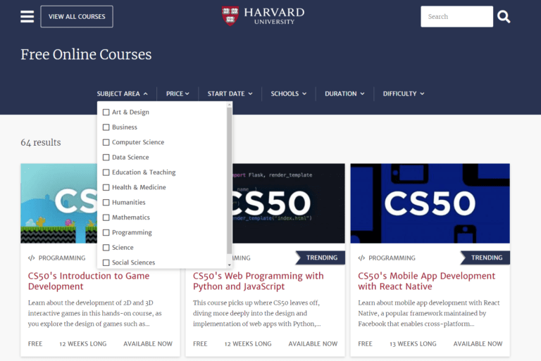 Online Courses – Harvard University