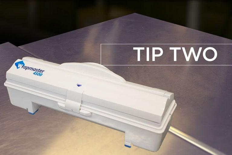 Dispenser pellicola trasparente - Safe Food Scores Wrapmaster Top Tip 2 - Wrapmaster