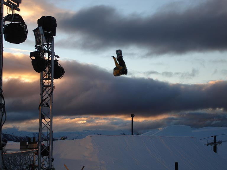 Snowsports photographer at the MTV Snow Jam in New Zealand