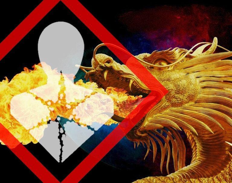 chemischer Gefahrenhinweis Gesundheitsschädlich beim Feuerspucken