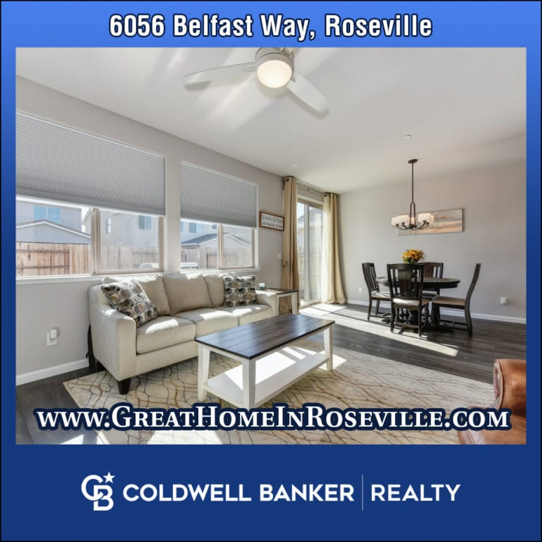 6056 Belfast Way, Roseville 95747 Home for Sale Newer Construction