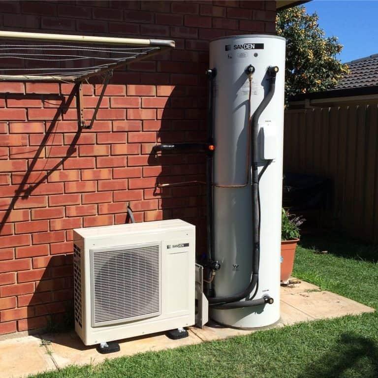 Sanden Heat Pump installed in Marlston SA by Adelaide Heat Pumps
