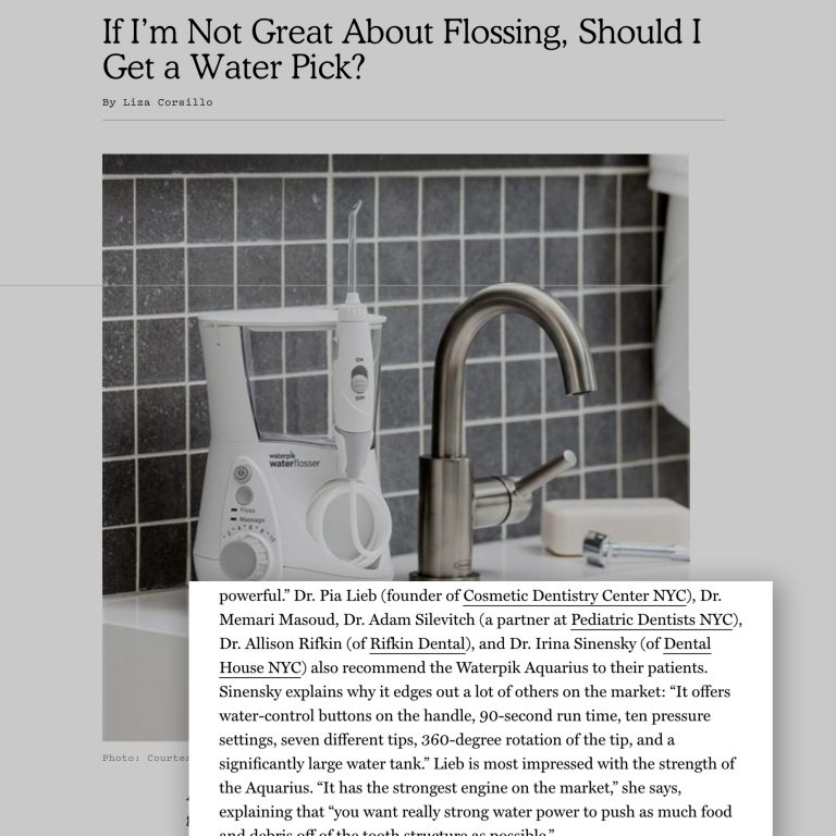 A link to a NewYorkMag.com article about the Best Waterpik Flossers