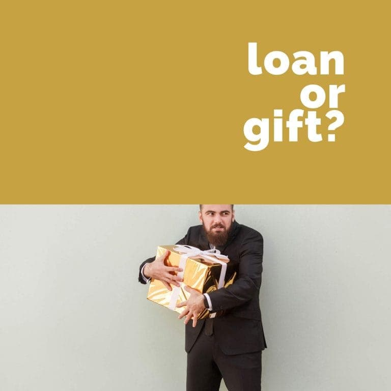 How are loans and gifts considered in family law?