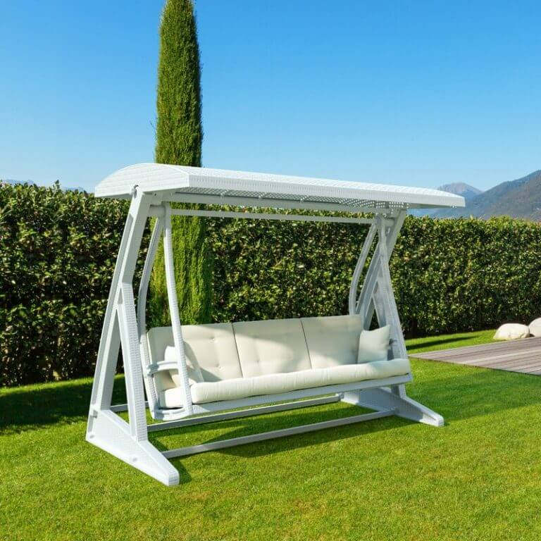 MODERN DESIGN 3 PERSON PATIO SWING WITH CANOPY