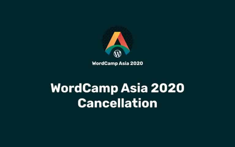 WordCamp Asia 2020 has been canceled