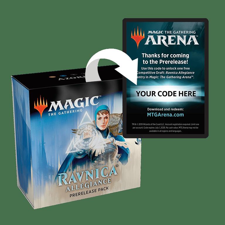 M20 Prerelease Code 6 x Booster • Magic the Gathering Arena Core Set 2020 MTGA