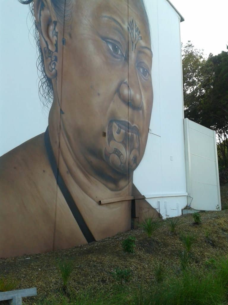 Awesome graffiti artwork on the Grafton Gully Cycleway