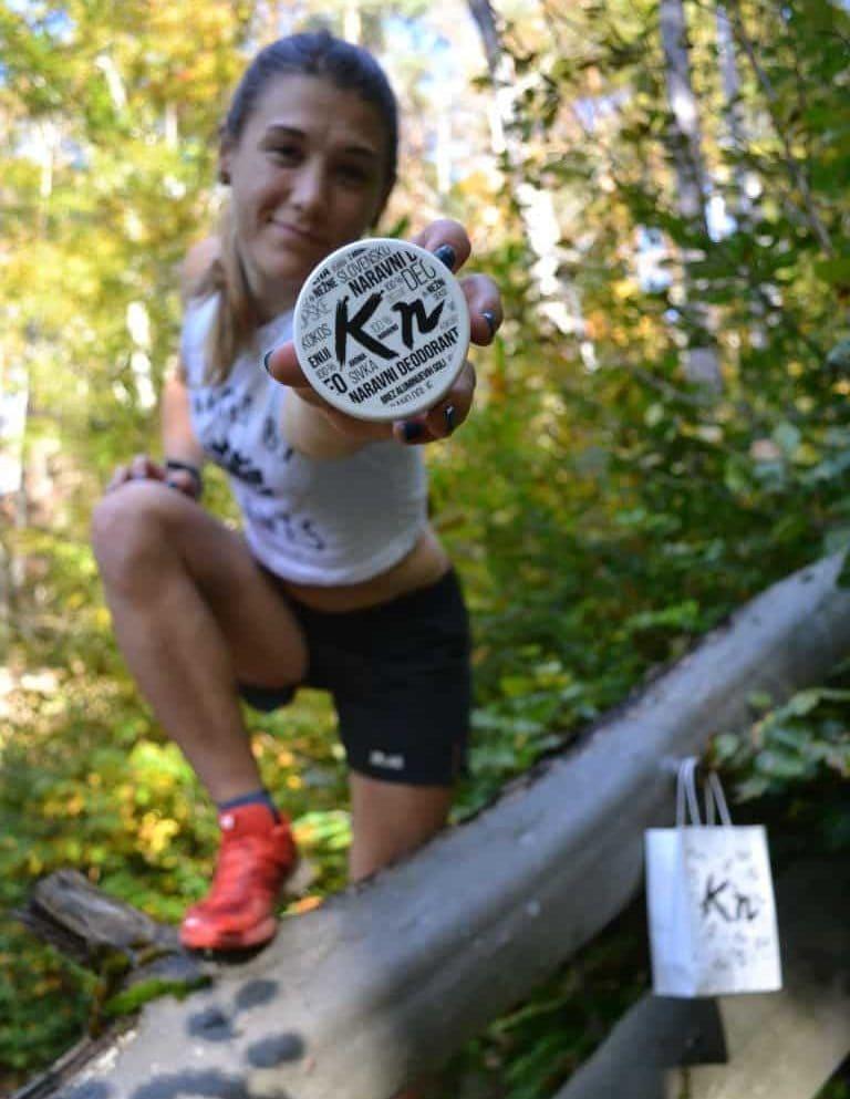 Ana Čufer z naravnim deodorantom