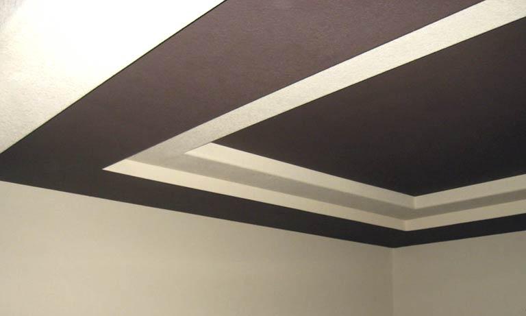 Вариант отделки потолка из гипсокартона
