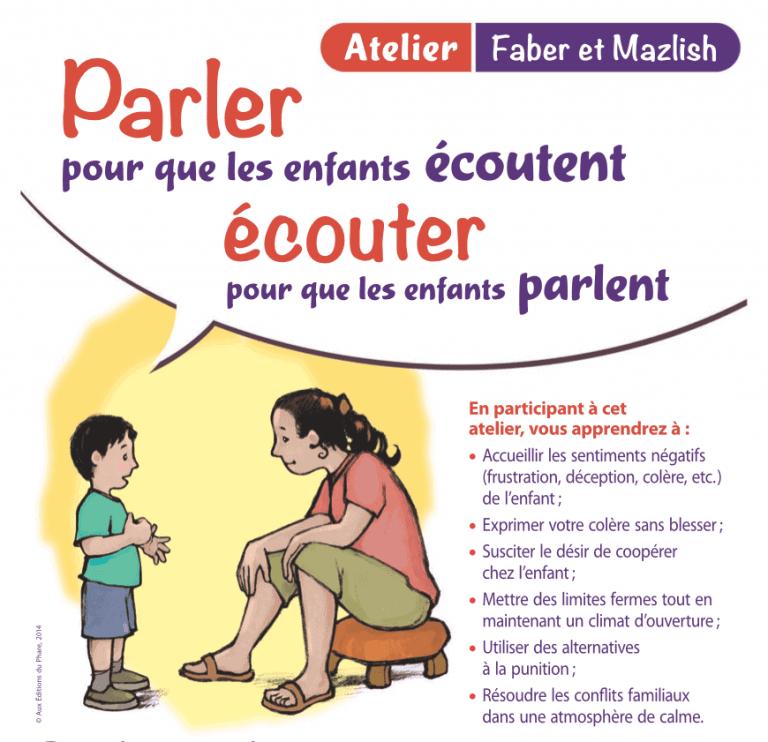Atelier Faber et Mazlish Lyon - Parler pour que les enfants écoutent 1